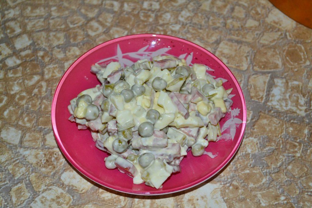 Быстрые салаты из сыра фото