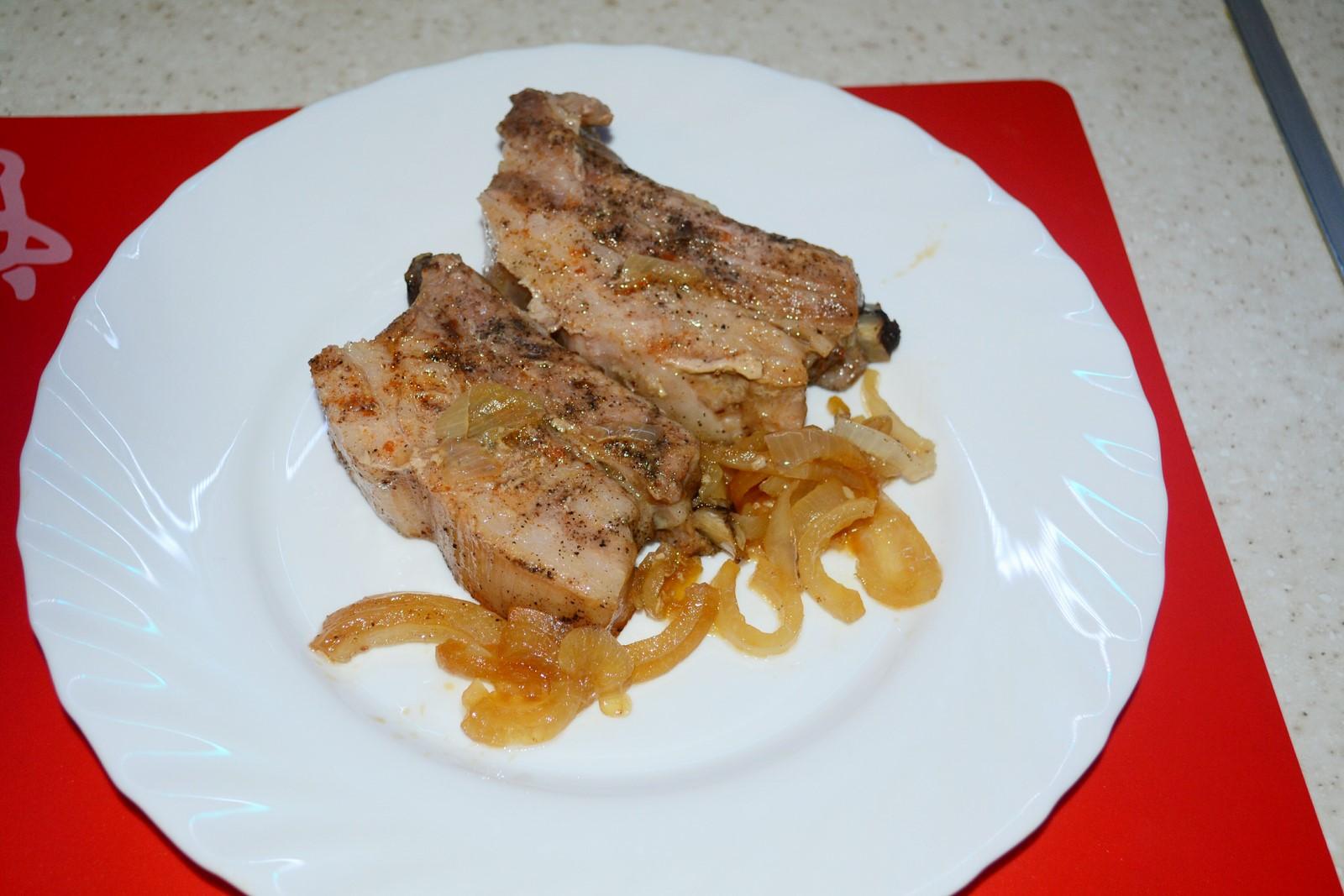 Ребрышки свиные с гречкой рецепт пошагово с